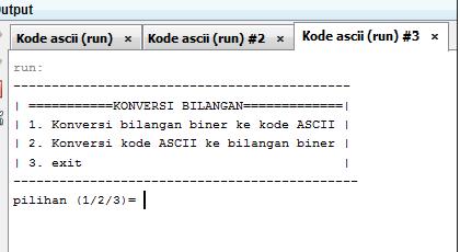 Program Java untuk konversi Ascii ke Biner