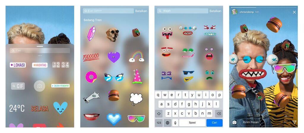 Kian Seru, Instagram Sisipkan Stiker GIF di Fitur Stories