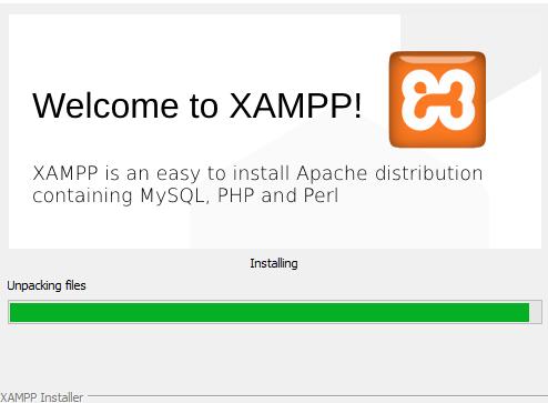 selesai menginstall xampp