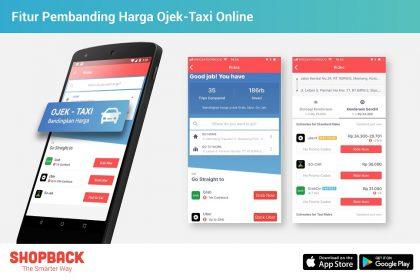 ShopBack Memiliki Fitur Pembanding Harga Transportasi Online