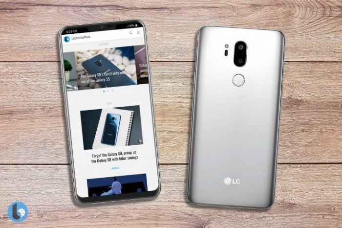 """mirip iphone x lg g7 usung desain poni dan kamera ganda Mirip iPhone X, LG G7 Usung Desain """"Poni"""" dan Kamera Ganda"""