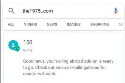 Google Search Engine Akan Error Saat Kamu Mengetikan Kata the1975..com