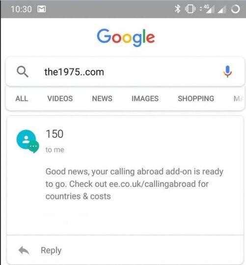 google search engine akan error ketika anda mengetikan kata the1975 com Google Search Engine Akan Error Saat Kamu Mengetikan Kata the1975..com