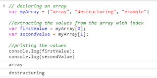Contoh Destructuring Array Dalam Javascript