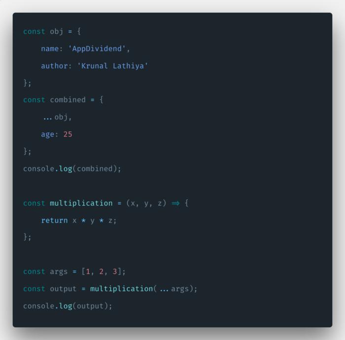 Contoh Spreading Operator di Javascript