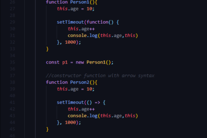 Pemakaian This dalam Arrow Function di Javascript