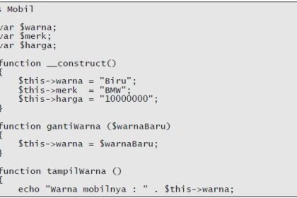 Property Accessor didalam Object Class Javascript